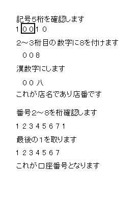 銀行 名 ゆうちょ 058 支店
